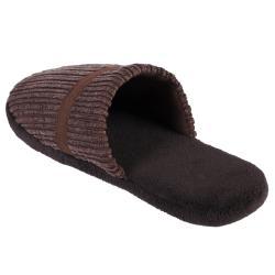 Daxx Men's Fuzzy Banded Corduroy Slippers - Thumbnail 1