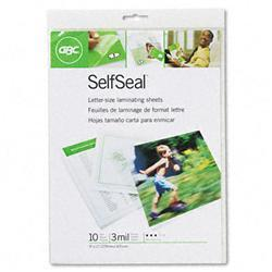 GBC Quartet SelfSeal Clear Laminating Pouches
