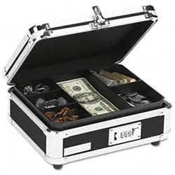 Ideastream Plastic and Steel Cash Box with|https://ak1.ostkcdn.com/images/products/80/937/P14887717.jpg?impolicy=medium