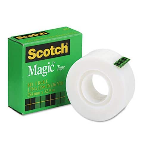 3M Magic Office Tape 1 in.x 36 Yards 1 in.Core