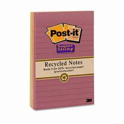 3M Nature s Hues Super Sticky Notes Lined 4 x 6