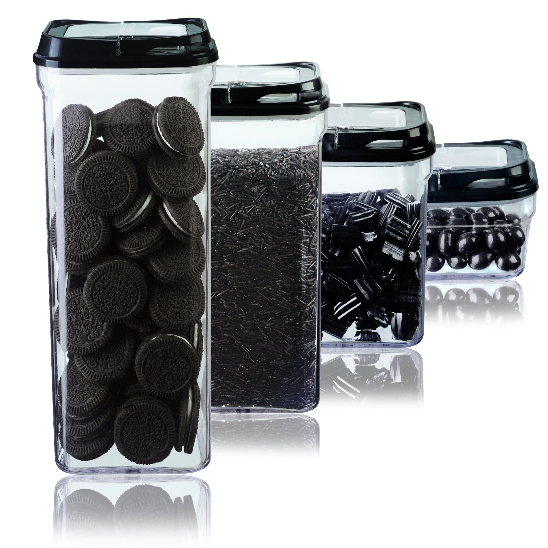 Art and Cook Black 4-piece Storage Container Set