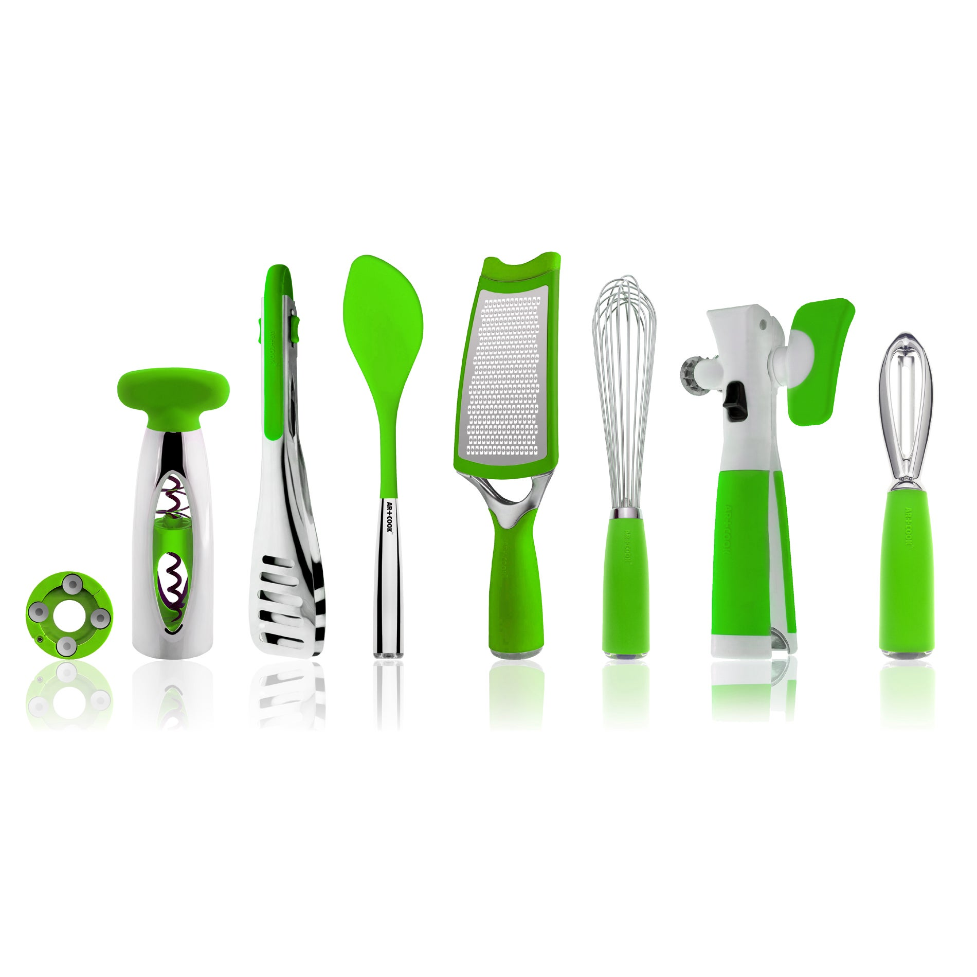 Art and Cook Green 8-piece Kitchen Tool Set - Thumbnail 0