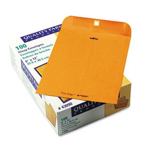 Quality Park Park Ridge Kraft Clasp Envelope 9 x