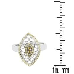 10k White Gold 1/2ct TDW Brown Diamond Fashion Ring - Thumbnail 2