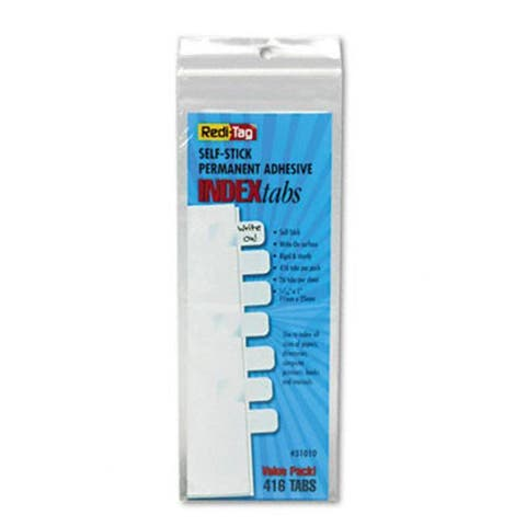Redi-Tag Side-Mount Self-Stick Plastic Index