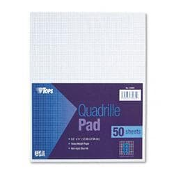 Tops Quadrille Pads Eight Squares Per inch 8-1/2