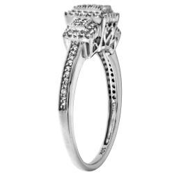 10k White Gold 1/4ct TDW Diamond Engagement Ring (H-I,I2-I3) - Thumbnail 1