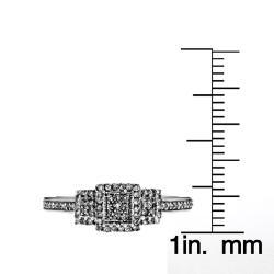 10k White Gold 1/4ct TDW Diamond Engagement Ring (H-I,I2-I3) - Thumbnail 2