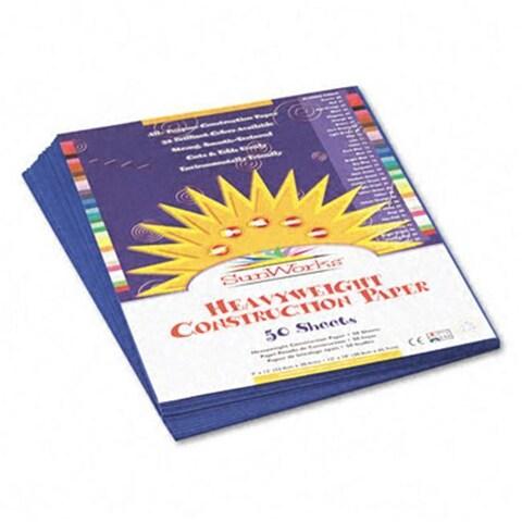 SunWorks Dark Blue 58-pound Construction Paper