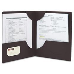 Smead Lockit Two-Pocket Folder, Leatherette
