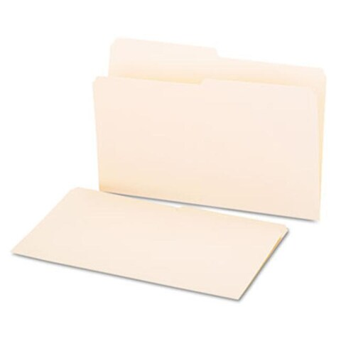 Universal File Folders, 1/2 Cut, One-Ply Top