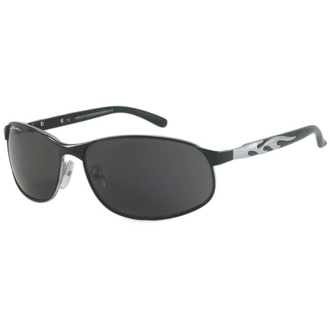 Harley Davidson Unisex HDS590 Rectangular Sunglasses