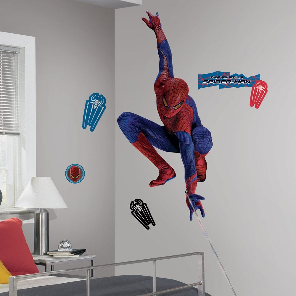 RoomMates Amazing Spider-Man Web Peel and Stick Giant Wall Decal