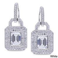 Catherine Catherine Malandrino Sterling Silver Yellow or White Cubic Zirconia Dangle Earrings