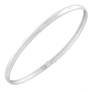 Fremada Solid Silver Filled Polished Bangle