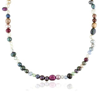 M by Miadora Cultured Freshwater Pearl Endless Necklace (5-8 mm)