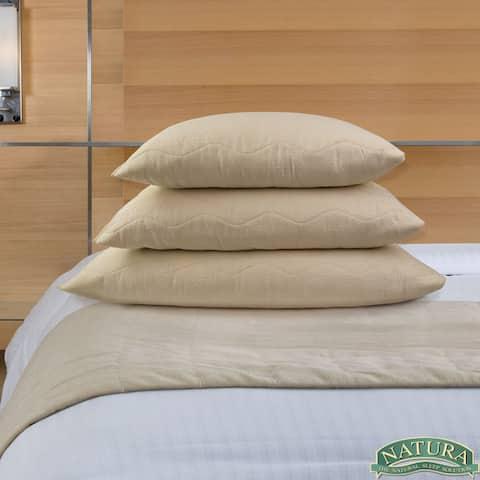 Natura Granulated Latex Aloe Infused Pillow - beige
