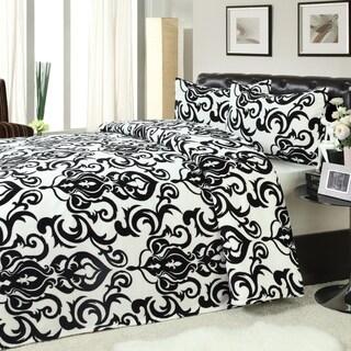 Olympia Microplush Blanket and 2-piece Sham Set