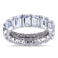 Miadora Sterling Silver Cubic Zirconia Eternity Ring