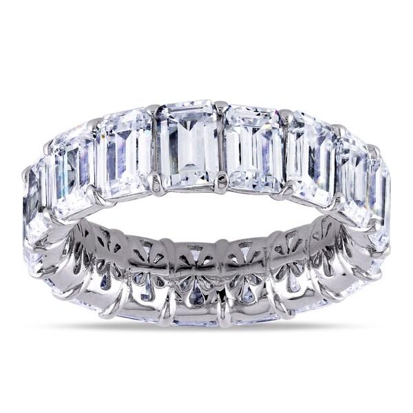 Miadora Sterling Silver Cubic Zirconia Eternity Ring
