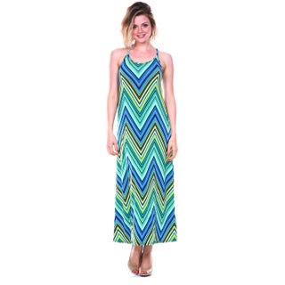 White Mark Women's 'Adalina' Maxi Dress (Option: Green - S)
