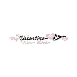 Sizzix Sizzlits Decorative Valentine Phrases with Hearts Strip Die