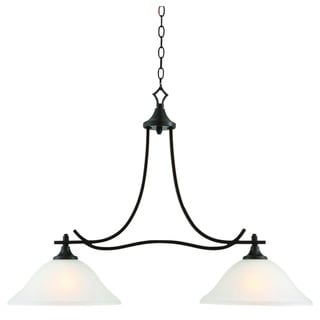 Design House Juneau 2 Light Energy Star Island Oil Rubbed Bronze Pendant Fr