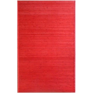Bamboo Red Area Rug (5' x 8')