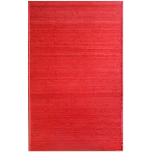 Bamboo Red Area Rug - 5' x 8'