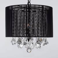 Gallery Three-Light 40-Watt Crystal Chandelier with Shade