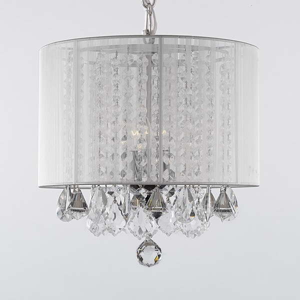Gallery 3light Crystal Chandelier with Shade Free Shipping – Crystal Chandelier with Shade