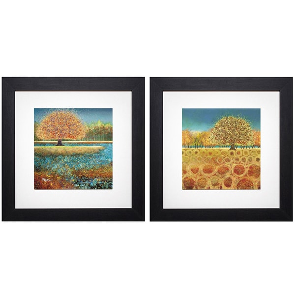 Melissa Graves-Brown 'Jewel River/ Beyond the Fields' Framed Art Print - Green