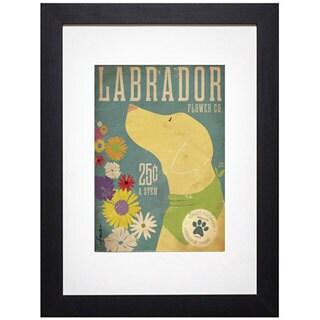 Stephen Fowler 'Labrador Flower Co.' Framed Art Print