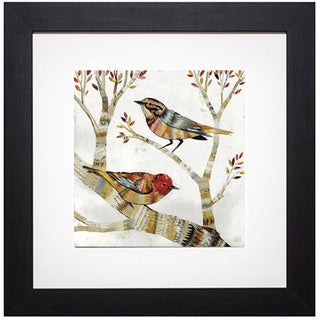 Dolan Geiman 'Warblers I/Warblers II' Framed Art Print
