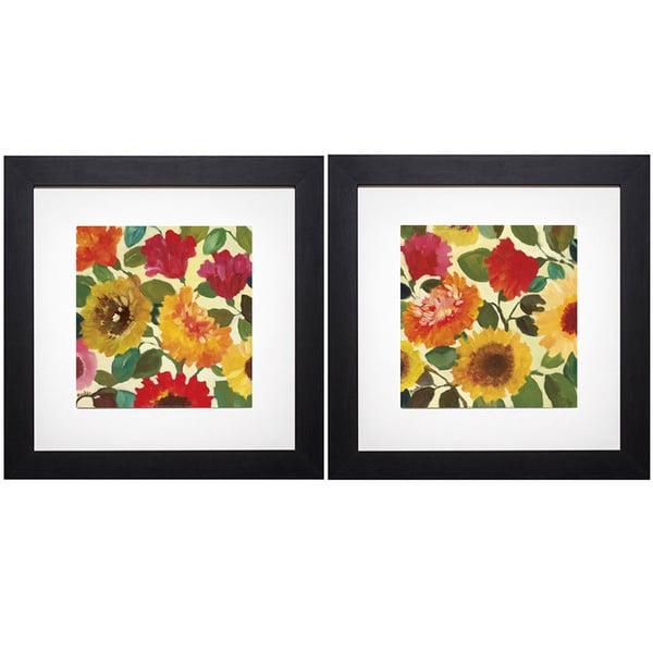 Kim Parker 'Fall Gardens I/Fall Gardens II' Print Art