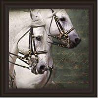 Kimberly Vickrey 'Carousel Horses' Print Art - Multi