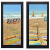 Robin Renee Hix 'Up For Grabs/Double Walk' Print Art - Multi