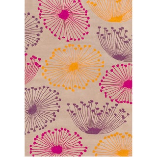 Hand-tufted Dandilion Contemporary Floral Rug (2' x 3')