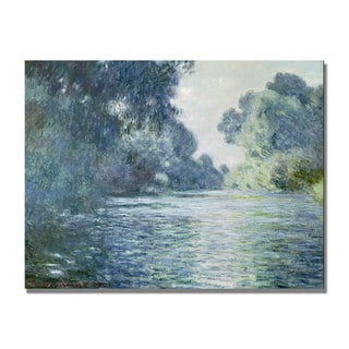 Claude Monet 'Branch of the Seine near Giverny' Canvas Art