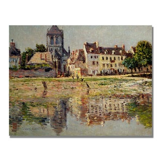 Claude Monet 'By the River at Vernon' Canvas Art