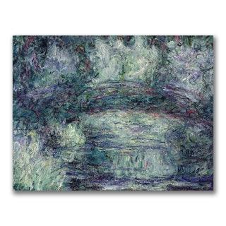 Claude Monet 'The Japanese Bridge III' Canvas Art