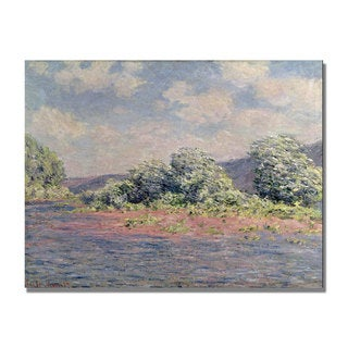 Claude Monet 'The Seine at Port Villez' Canvas Art