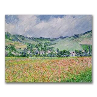 Claude Monet 'The Poppy Field near Giverny' Canvas Art