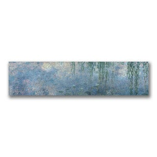 Claude Monet 'Waterlillies Morning' Canvas Art
