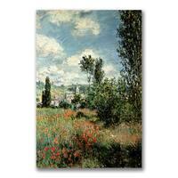 Claude Monet 'Path through the Poppies' Canvas Art - Multi