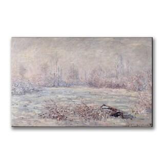 Claude Monet 'Frost near Vetheuil' Canvas Art