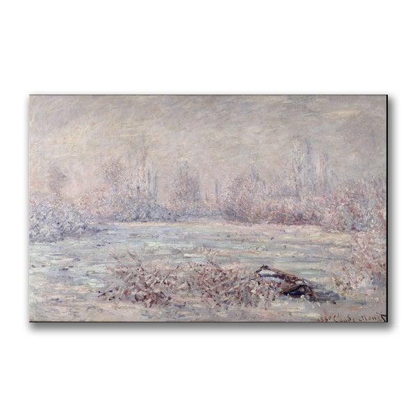 Shop Claude Monet Frost Near Vetheuil Canvas Art Free