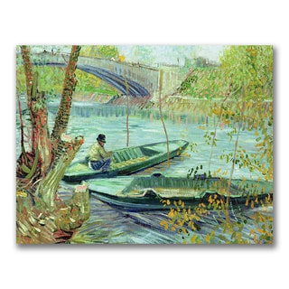 Vincent van Gogh 'Fishing in the Spring' Canvas Art