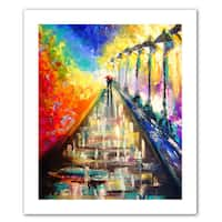 Susi Franco 'Rainy Paris Evening' Unwrapped Canvas